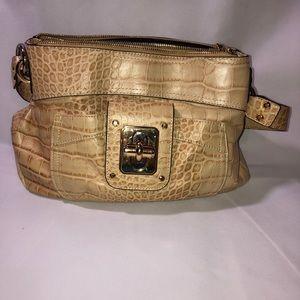 B Makowsky tan croc purse